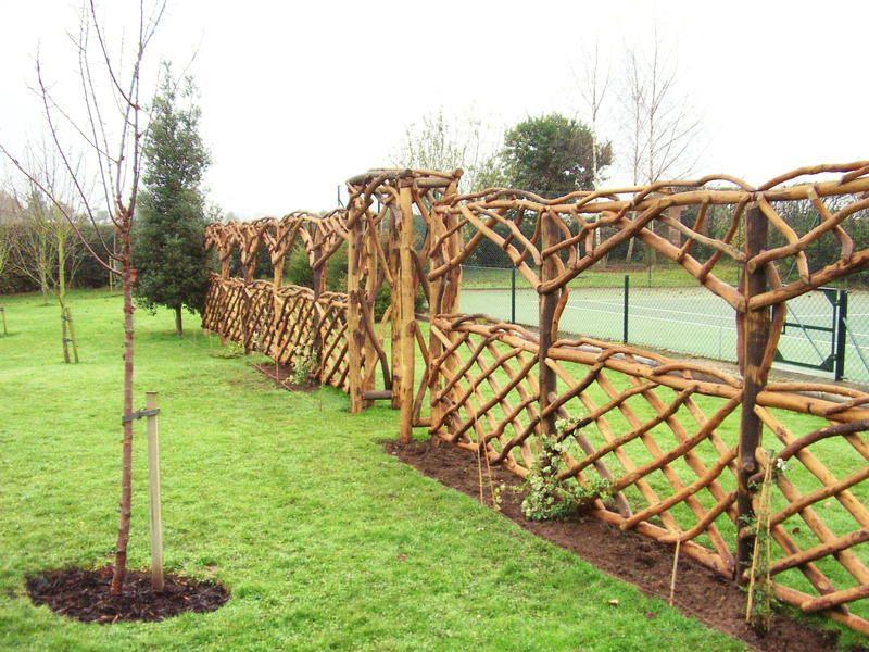 Trellis Fencing Ideas Part - 35: Rustic Garden Ideas | Rustic Arches, Gates U0026 Fencing U003eu003e Square Top Arch And