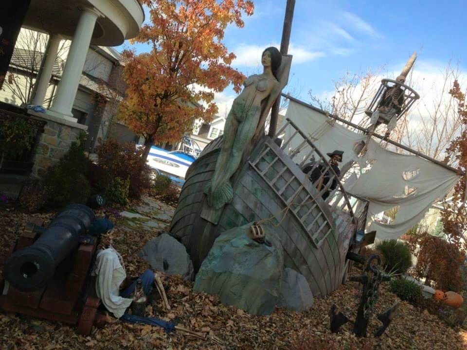 Cool ship prop halloween outdoor decorations pirate