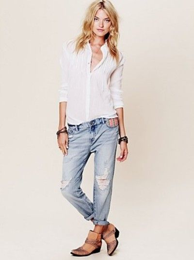 How to Style Slouchy Denim... chic boyfriend jeans ...