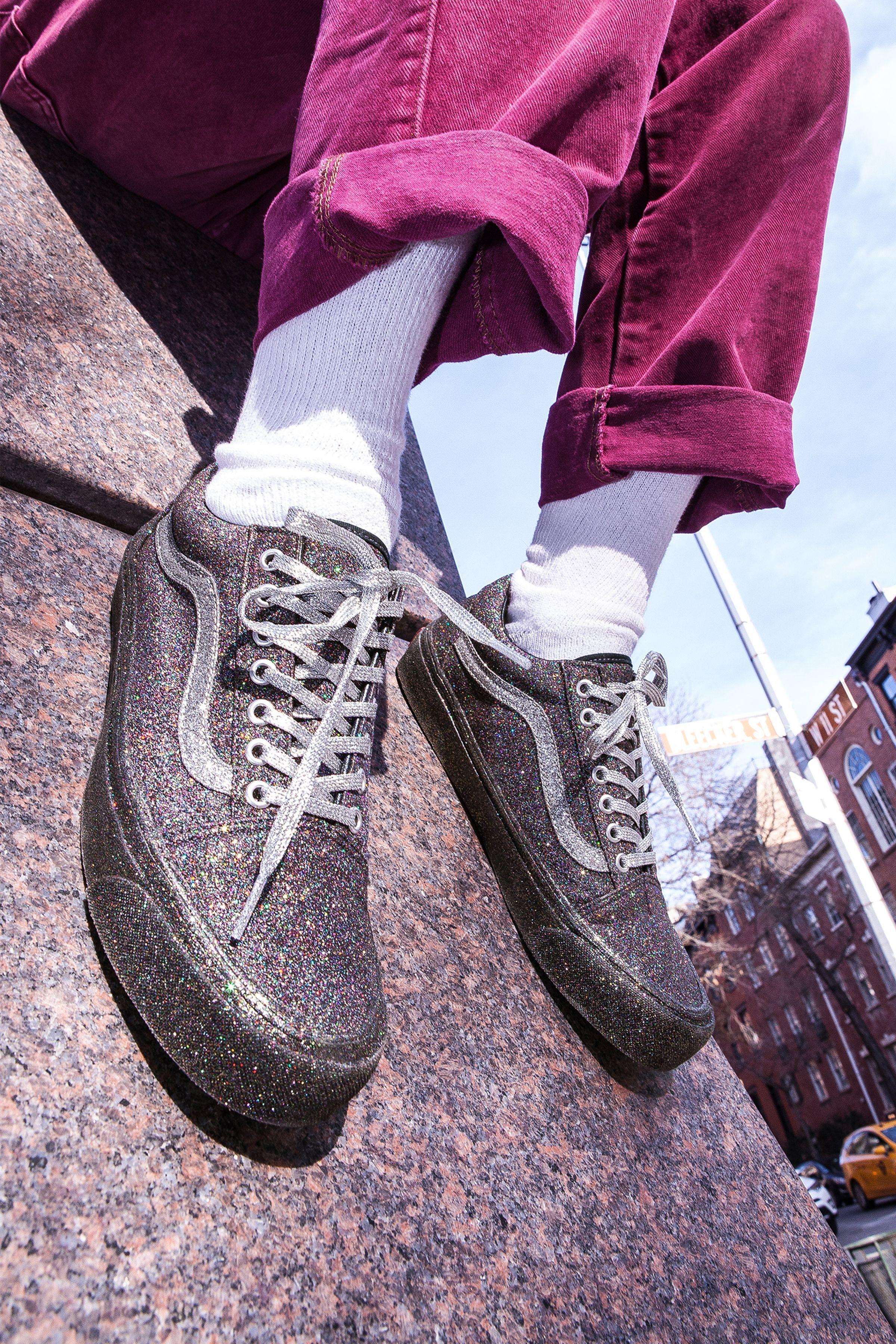 Sparkly vans, Sneakers, Glitter vans