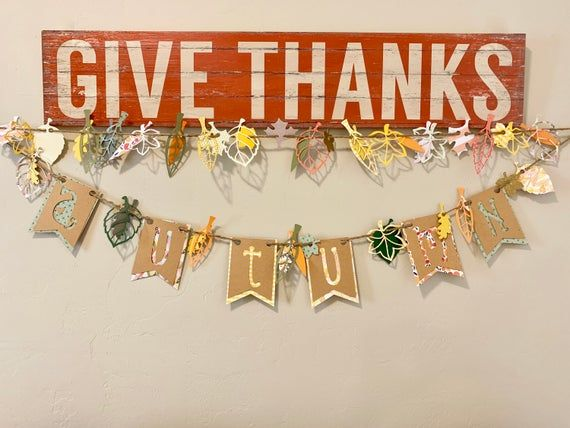 Embellished Garland, Fall Leaf Garland, Festive Holiday Garland, Thanksgiving Holiday Decoration, Thanksgiving Holiday Decor, DIY Fall Leaf #leafgarland