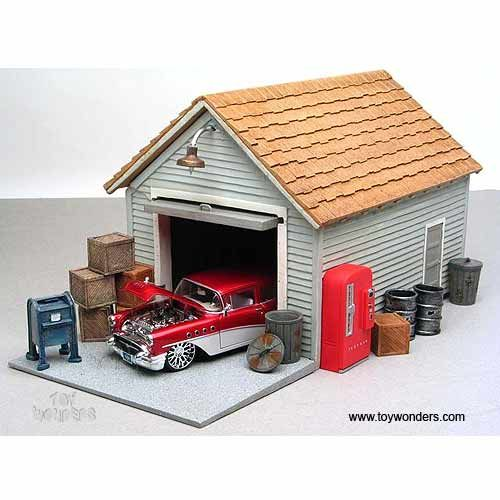American Diorama Buildings Garage Building 1 24 Scale 15808 Scale Models Cars Model Trains Diorama