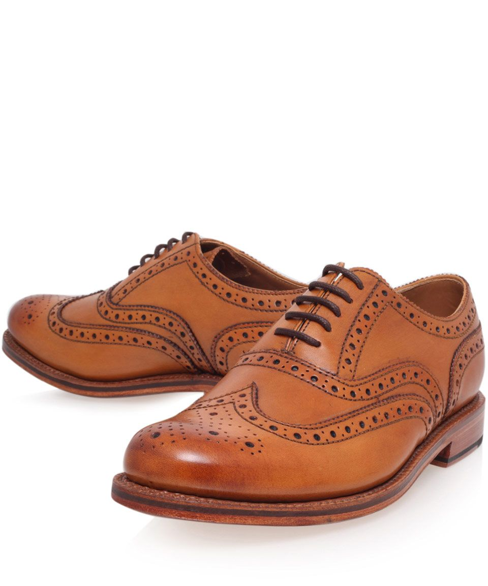 Buy Men Shoes / Grenson Stanley Vintage Leather Brogue Shoes