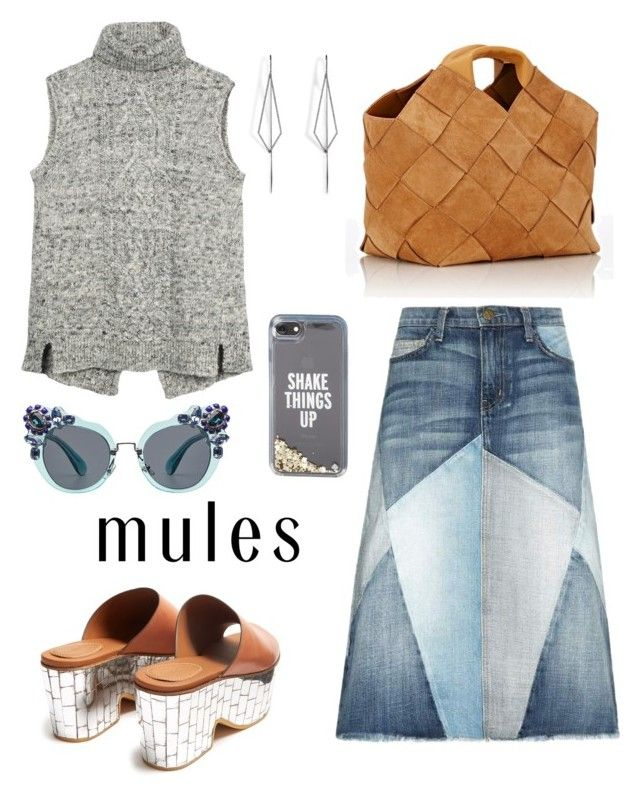 """""""Rock these mules girl!"""" by schenonek on Polyvore featuring moda, Fat Face, See by Chloé, Current/Elliott, Loewe, Kate Spade, Miu Miu y Diane Kordas"""