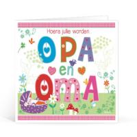 Uitgelezene Hoera Jullie Worden Opa en Oma Wenskaart (met afbeeldingen EM-66