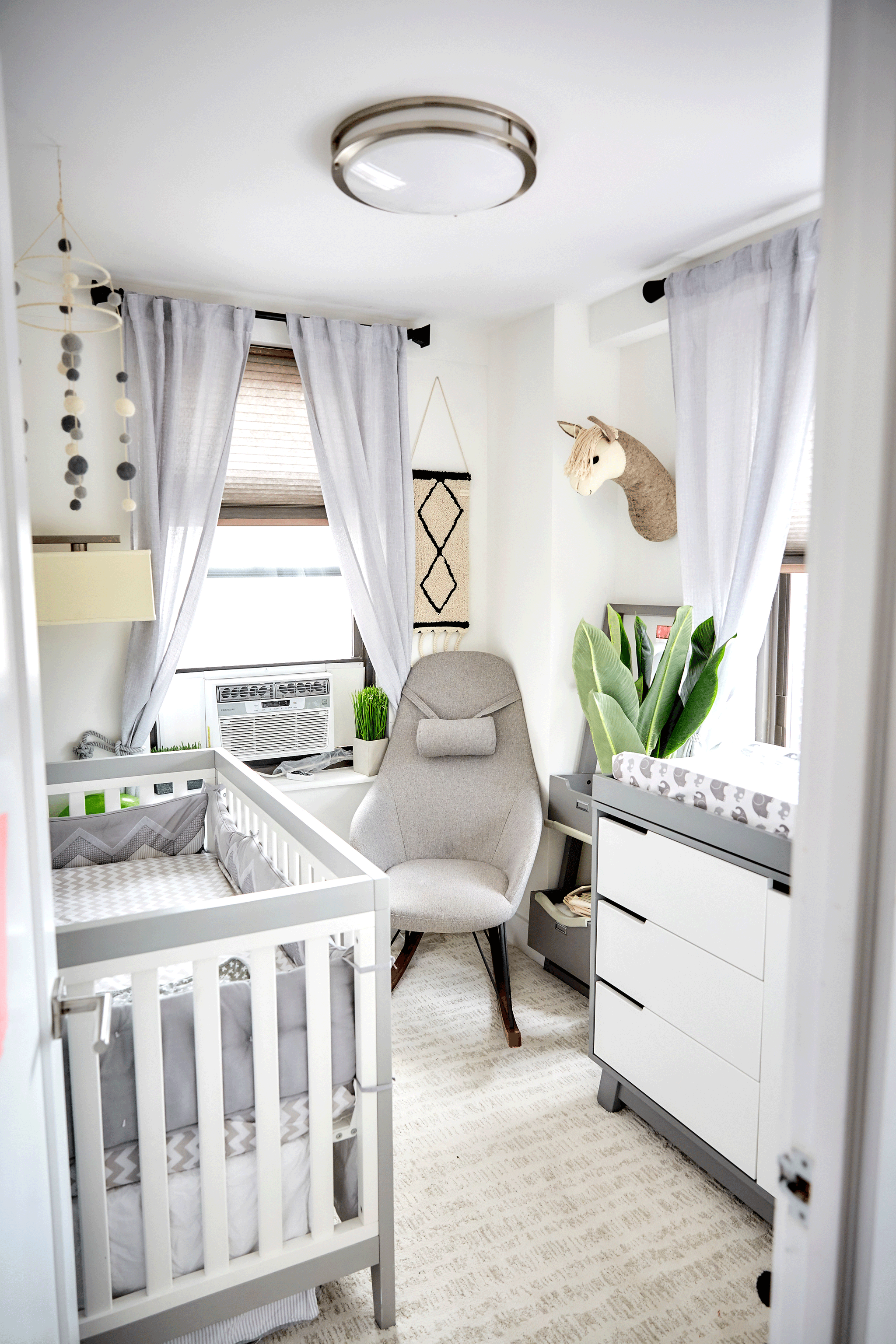 In The Nursery With Nycfitfam Project Nursery Grey Baby Room