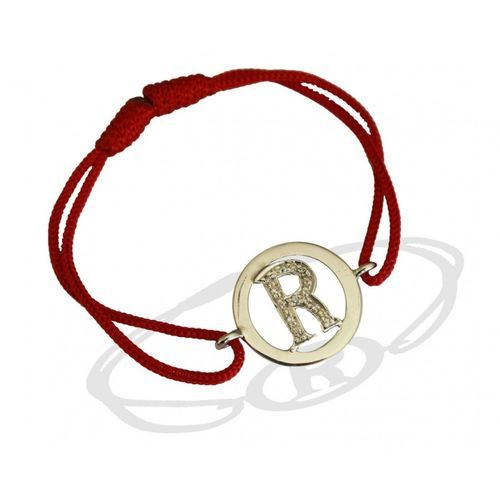#Alphabets Bracelet with Diamonds R