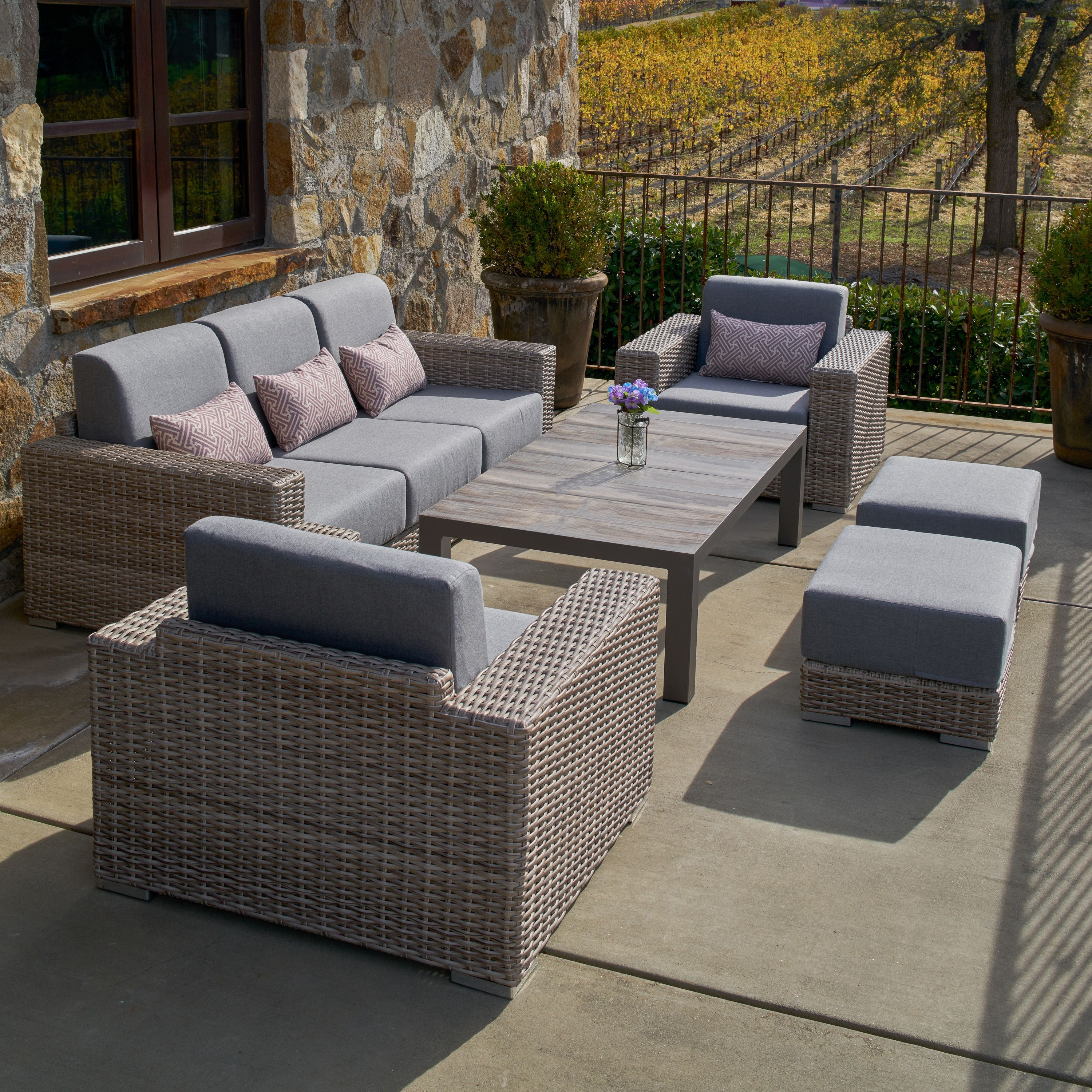 Eden 6 Piece Deep Seating Set Sets