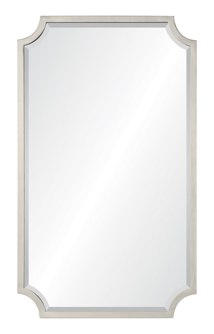 20669 Asl Mirror Silver Leaf Contemporary