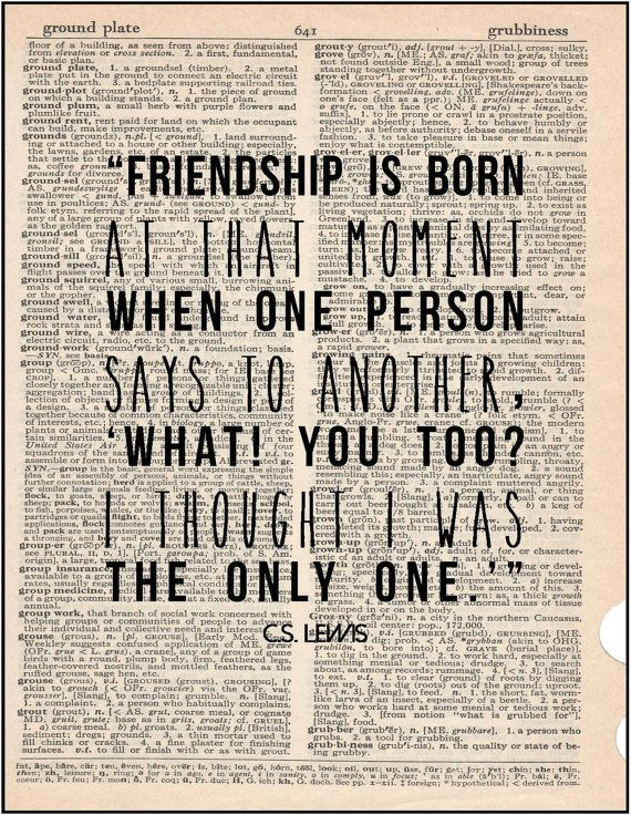 Literary Quotes About Friendship Captivating C.slewis Friendship Literary Quotejenniferdaredesigns