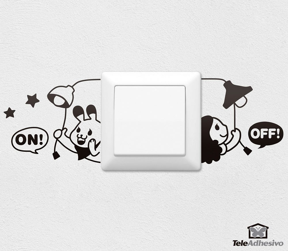 Best Stickers Muraux Allumer Et Éteindre In 2019 Simple Wall 640 x 480