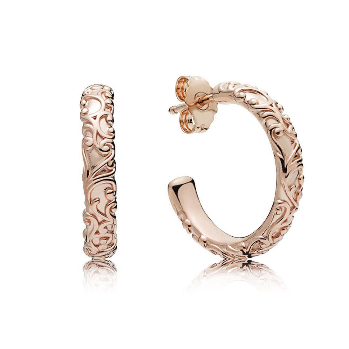 ac458963b 287732 Regal Hoop Earrings In Pandora Rose | j e w e l r y | Pandora ...