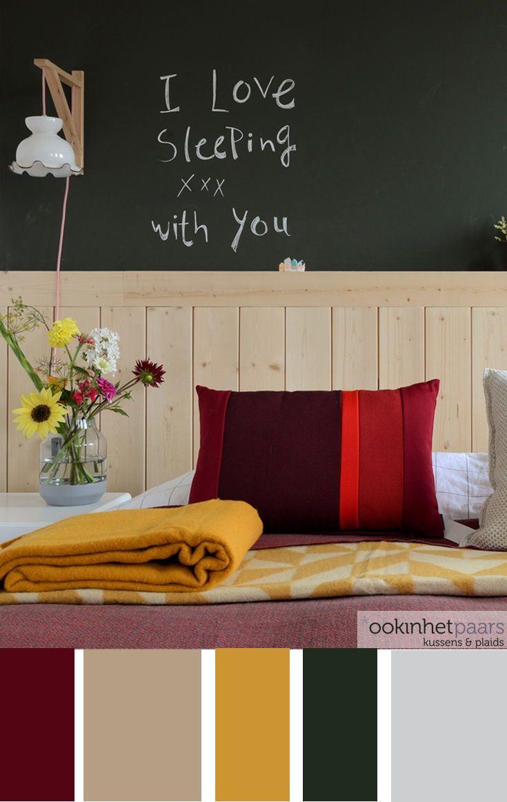 Fijne kleurrijke slaapkamer. Hou jij ook zo van kleur? Met dit ...