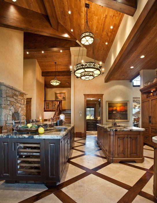 Luxury Mountain Home Kitchen Paula Berg Design