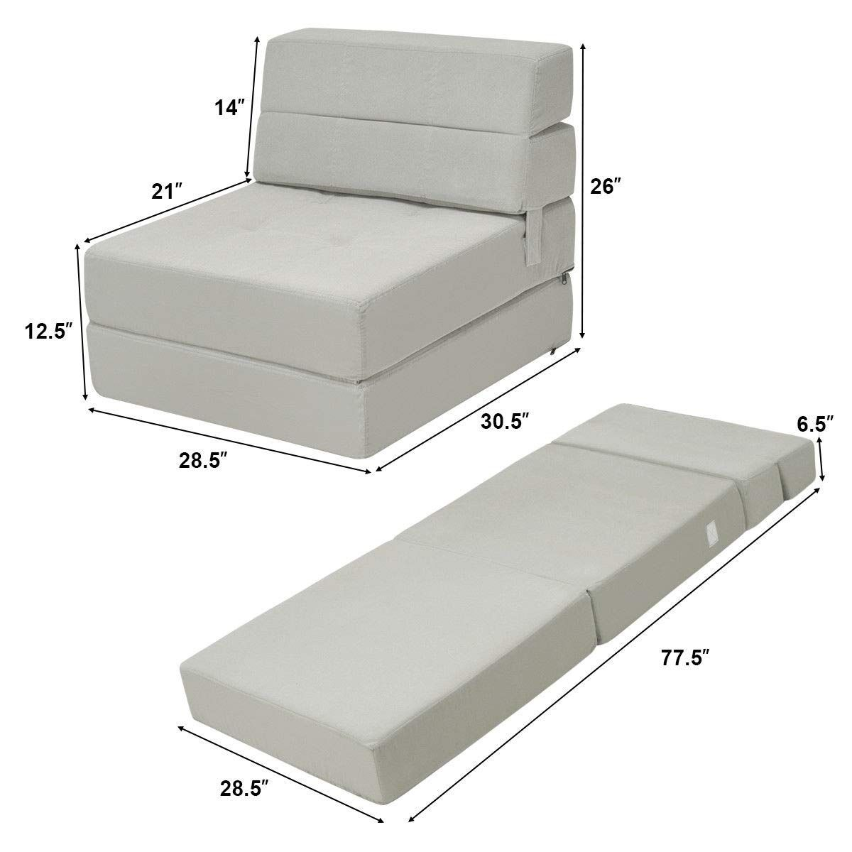 Amazon Com Giantex Fold Down Sofa Bed Floor Couch Foam Folding