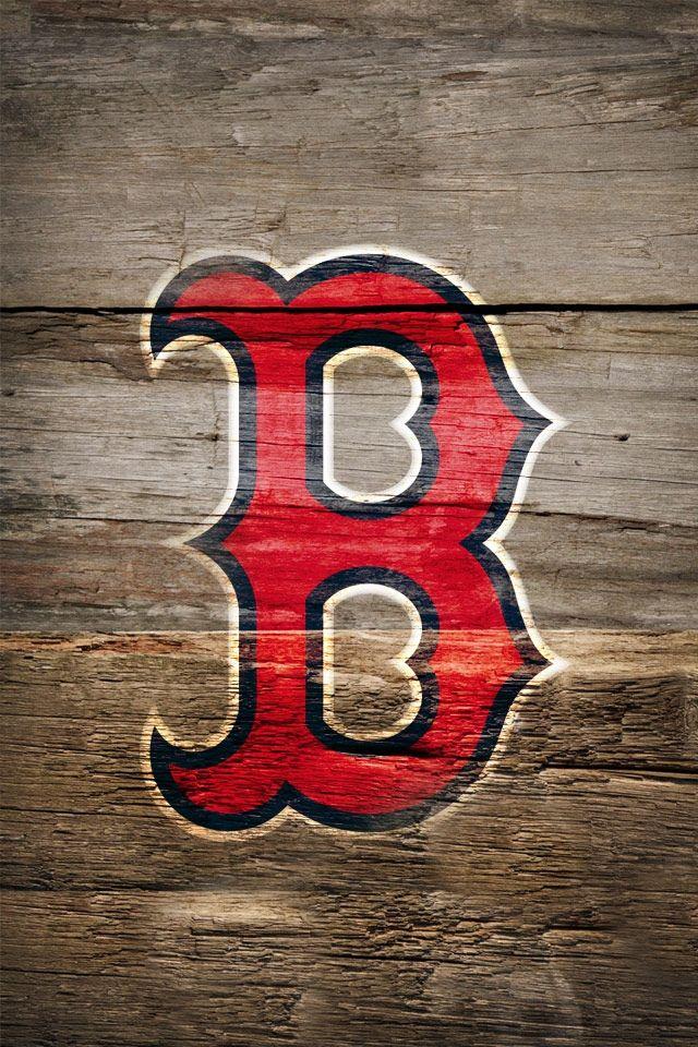 Boston Red Sox on Wood HD iPhone Wallpaper iThemeWorld