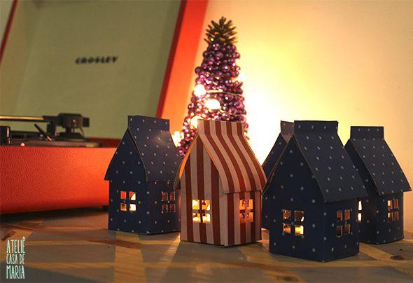 casinhas iluminadas - com molde