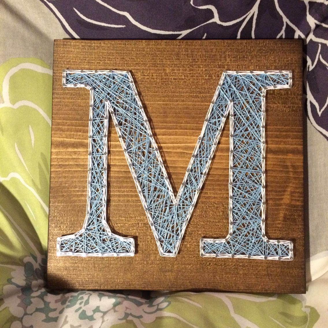 Letter/Initial String Art  Order From KiwiStrings On Etsy! ( Www.KiwiStrings