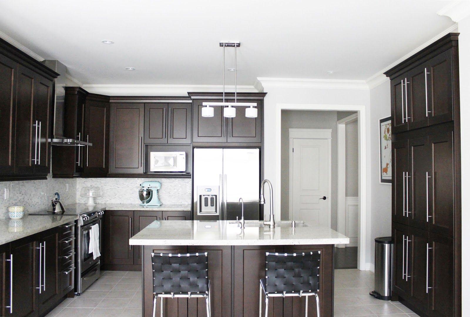 Dark Brown And White Kitchen Cabinets Gorgeous Brown Kitchen Cabinet Design Inspirations  Fascinating