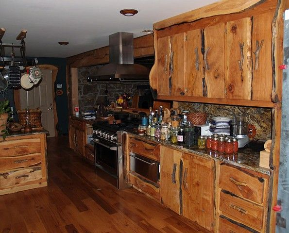 Custom Rustic Kitchen Cabinets Cabinets Western Kitchen Dresser Shelves  Dream Kitchen
