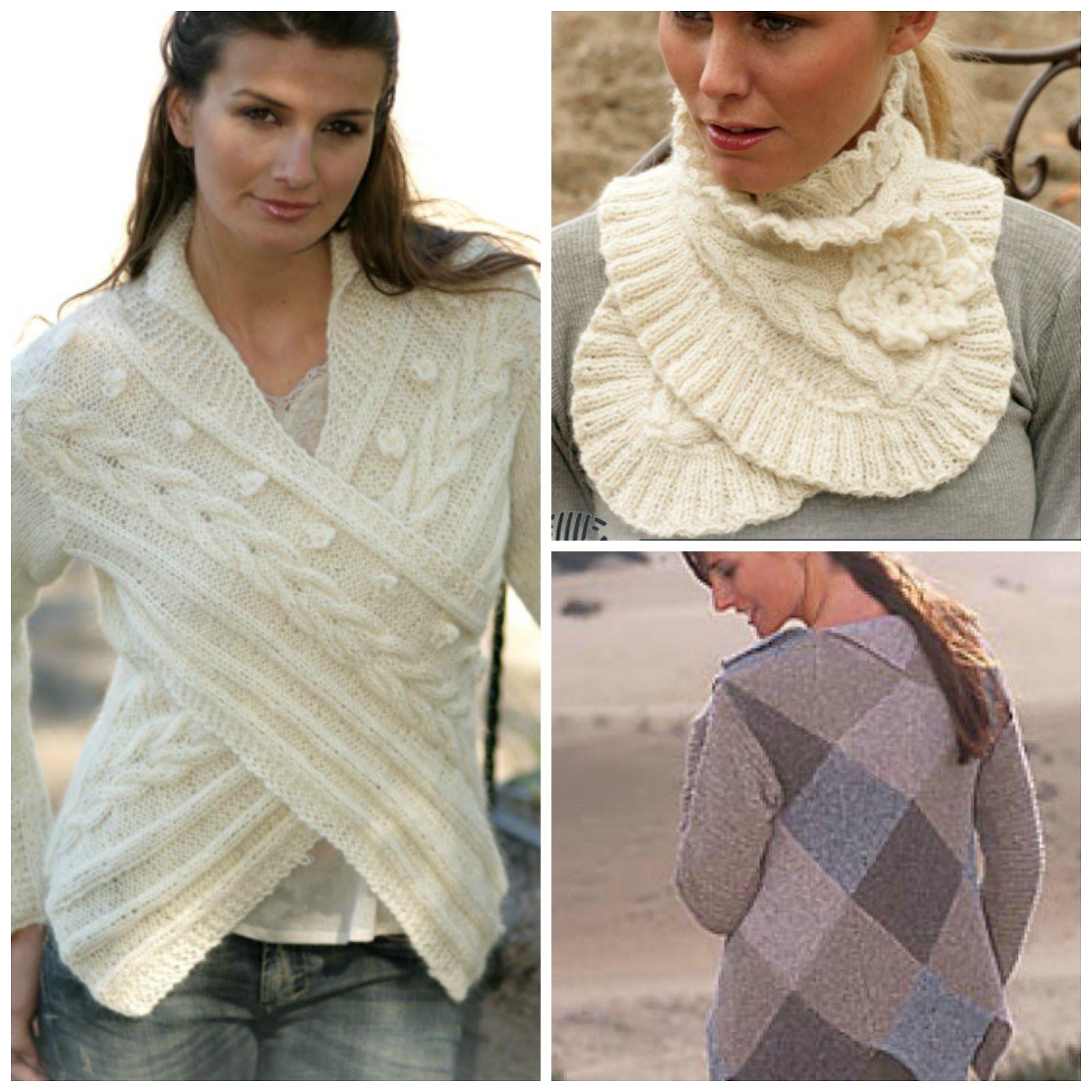 Patrones Crochet: Pasarela de Moda Prendas Tejidas | Bufandas ...