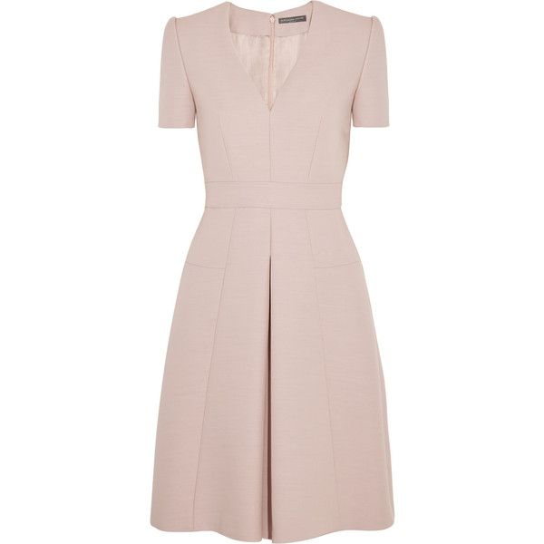 pleated back mini dress - Pink & Purple Alexander McQueen bqQmC6eW