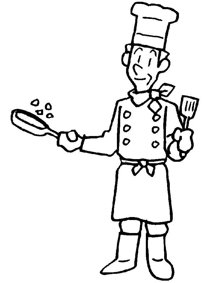 Gratis Kleurplaten Eten.Kleurplaat Kok Kleurplaat Kok Kleurplaten Restaurant