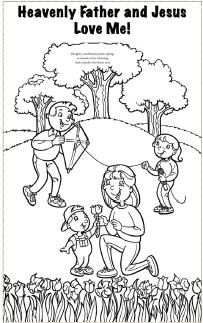 6: Heavenly Father and Jesus Love Me Coloring Sheet | LDS Sunbeam ...