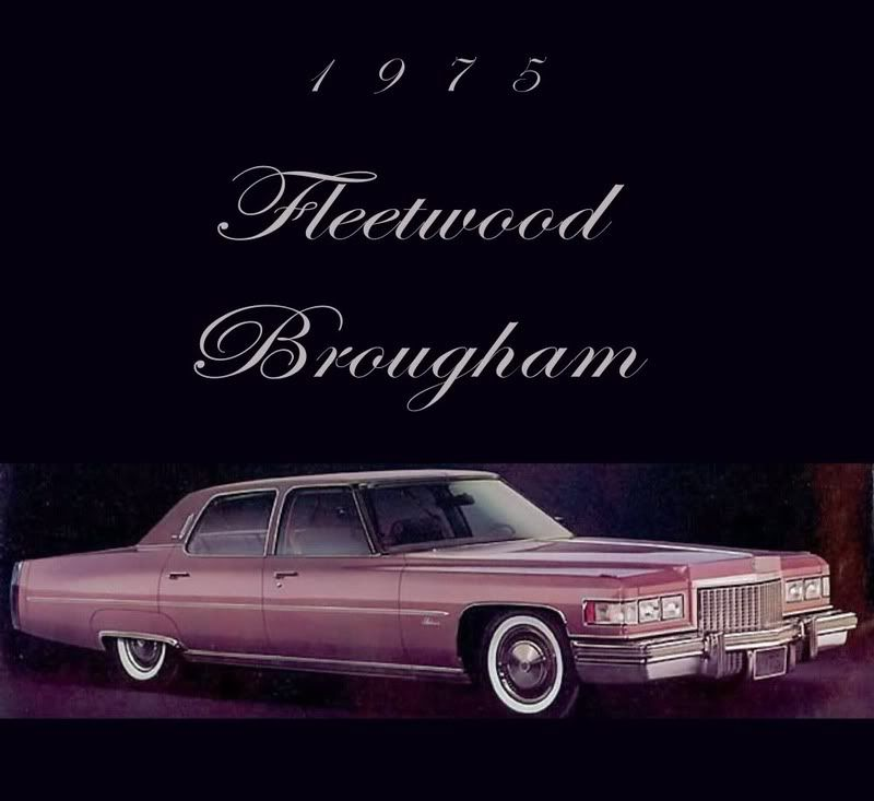 1993 Cadillac Brougham For Sale: 1975 Cadillac Fleetwood Brougham Finished In Cerise Firemist Metallic.