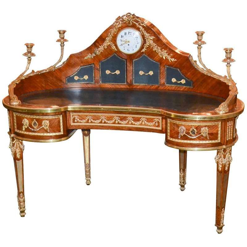 Extraordinary 19th Century French Louis Xvi Style Desk For Sale