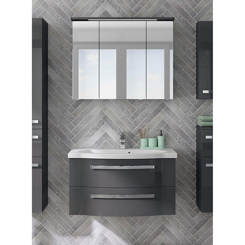 Badezimmerset Fokus 4005 Ii 2 Teilig In 2020 Waschbeckenunterschrank Spiegelschrank Und Spiegeltur