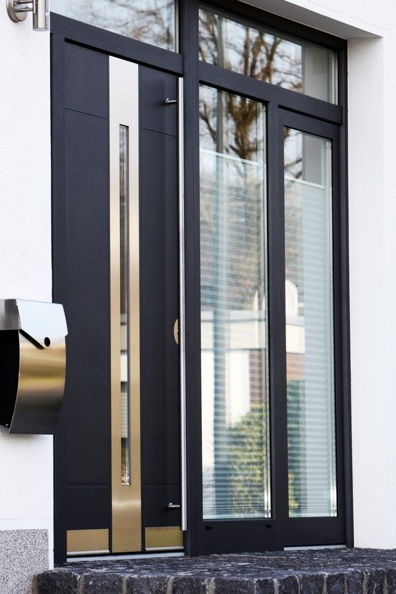 Exceptional Einfache Dekoration Und Mobel Moderne Fenster Energiesparend Und Einbruchssicher #2: Moderne Front Glas Tür
