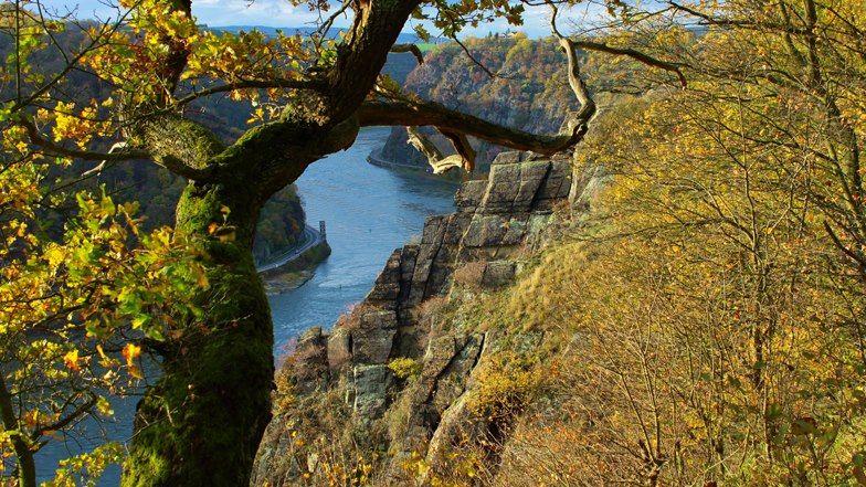 Der Rhein Und Die Loreley Deutschland Germany Deutschland Auf Dem Land