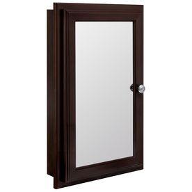 Estate By Rsi 16 W Recessed Medicine Cabinet Lowes Medicine Cabinet Mirror Recessed Medicine Cabinet Adjustable Shelving