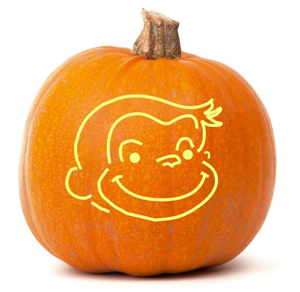 Curious George Pumpkin Carving Templates Wwwtopsimagescom