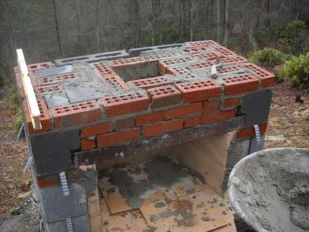 Building an outdoor fireplace part 2. - Living Stone Masonry | Out ...