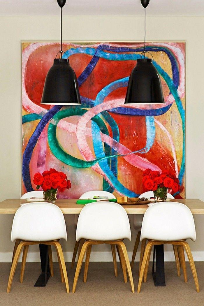Attraktive Grelle Wandfarben Für Ein Modernes Esszimmer