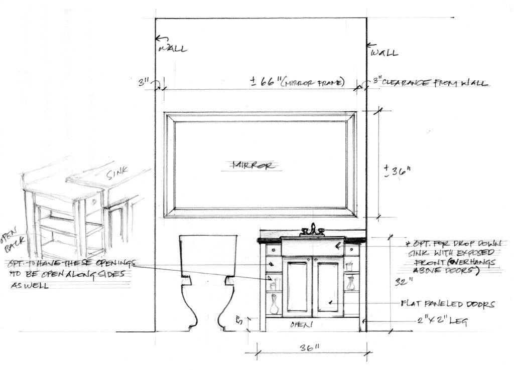 shop drawing for custom bath vanity large mirror for on custom bathroom vanity plans id=43875