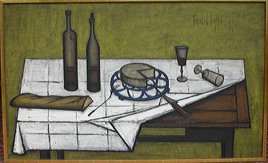 Bread and wine Bernard Buffet