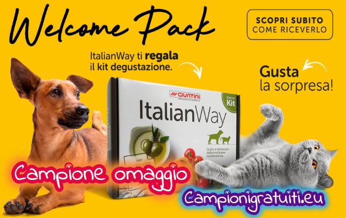 Campione gratuito kit ItalianWay per cane o gatto