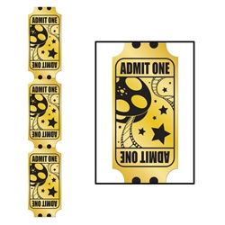 Jointed Foil Golden Ticked Pull-Down #ticket #hollywood #vip