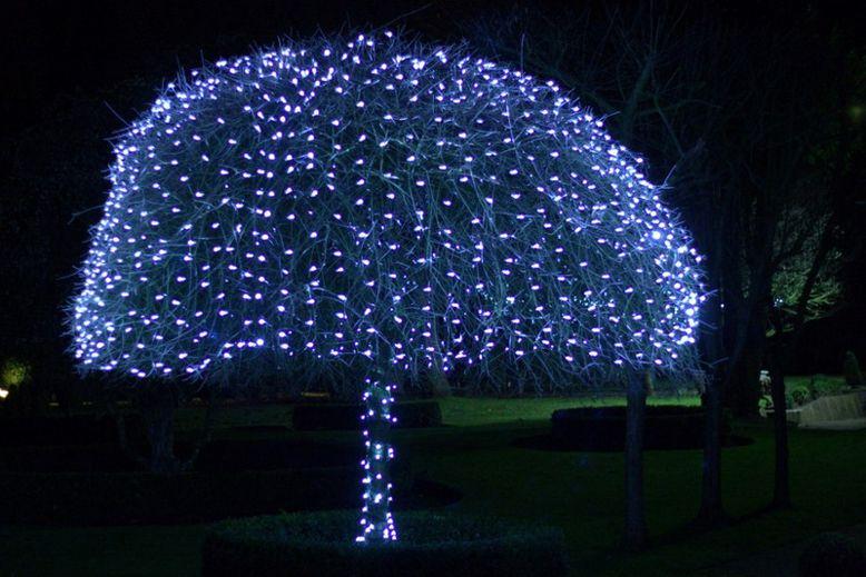 fiber christmas decoration led xmas outdoor lights flashing lamp nightlight colorful light lighting tree home product