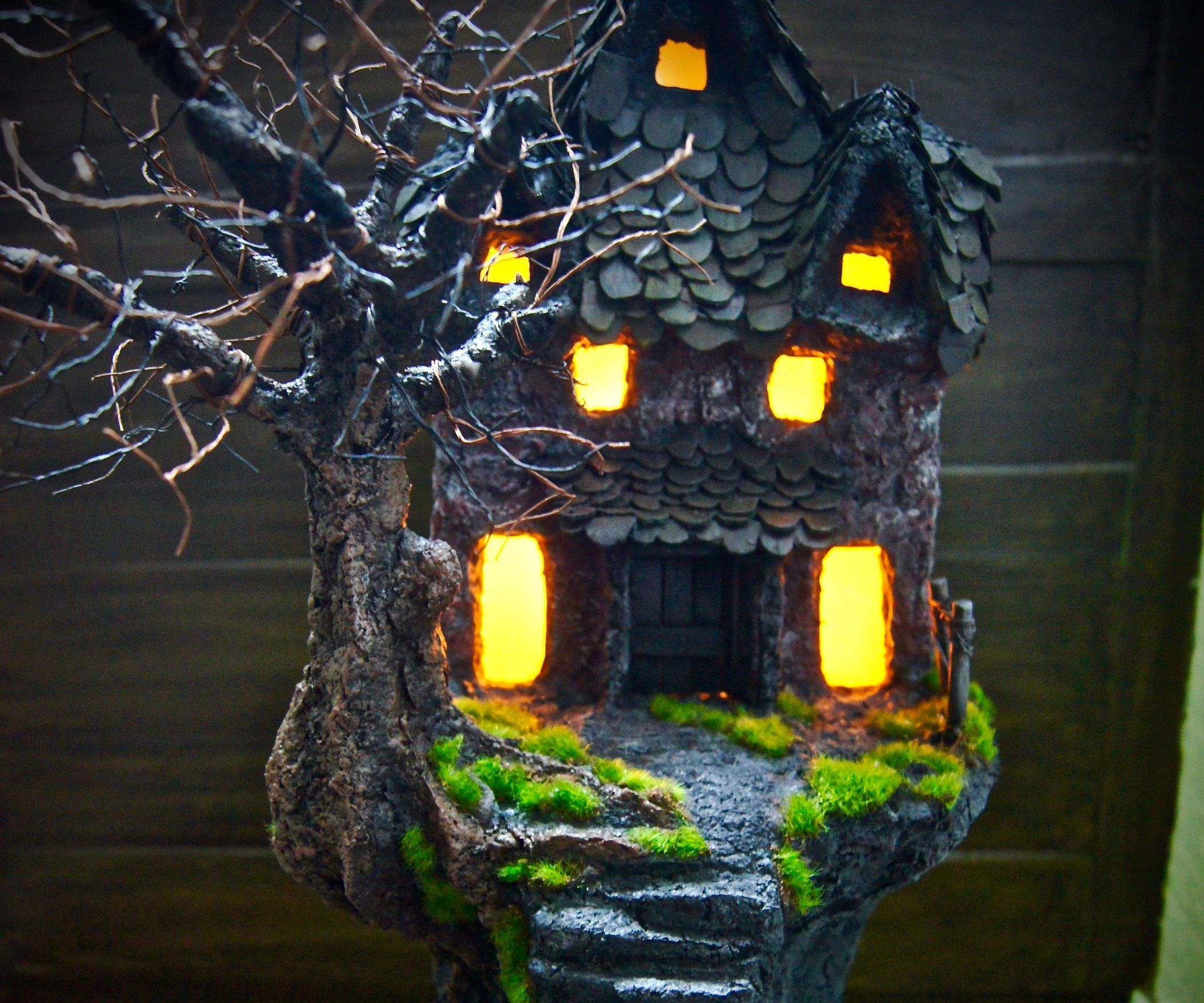 Paper Clay Haunted House! (With Images)