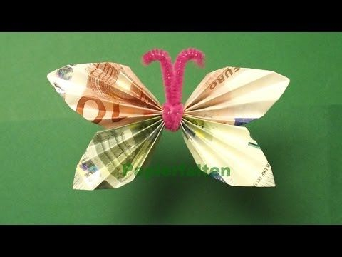 diy geldschein origami vogel geschenkidee youtube. Black Bedroom Furniture Sets. Home Design Ideas