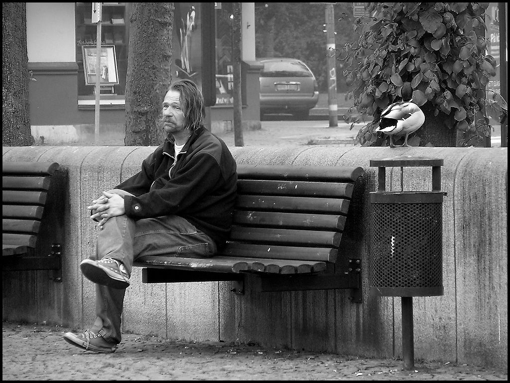 The Duck and the Sad Man by J-i-m-p-a