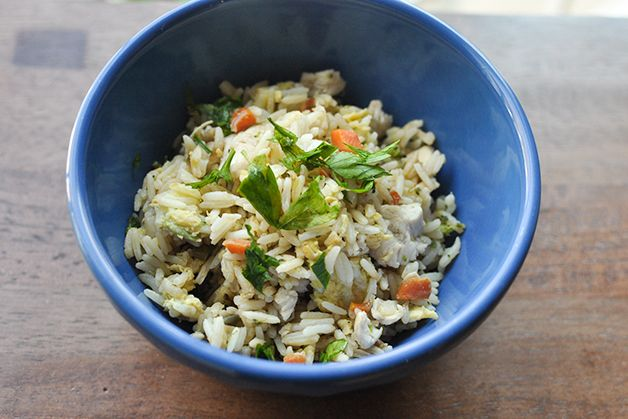 use leftovers and make this chicken and veggie fried rice.