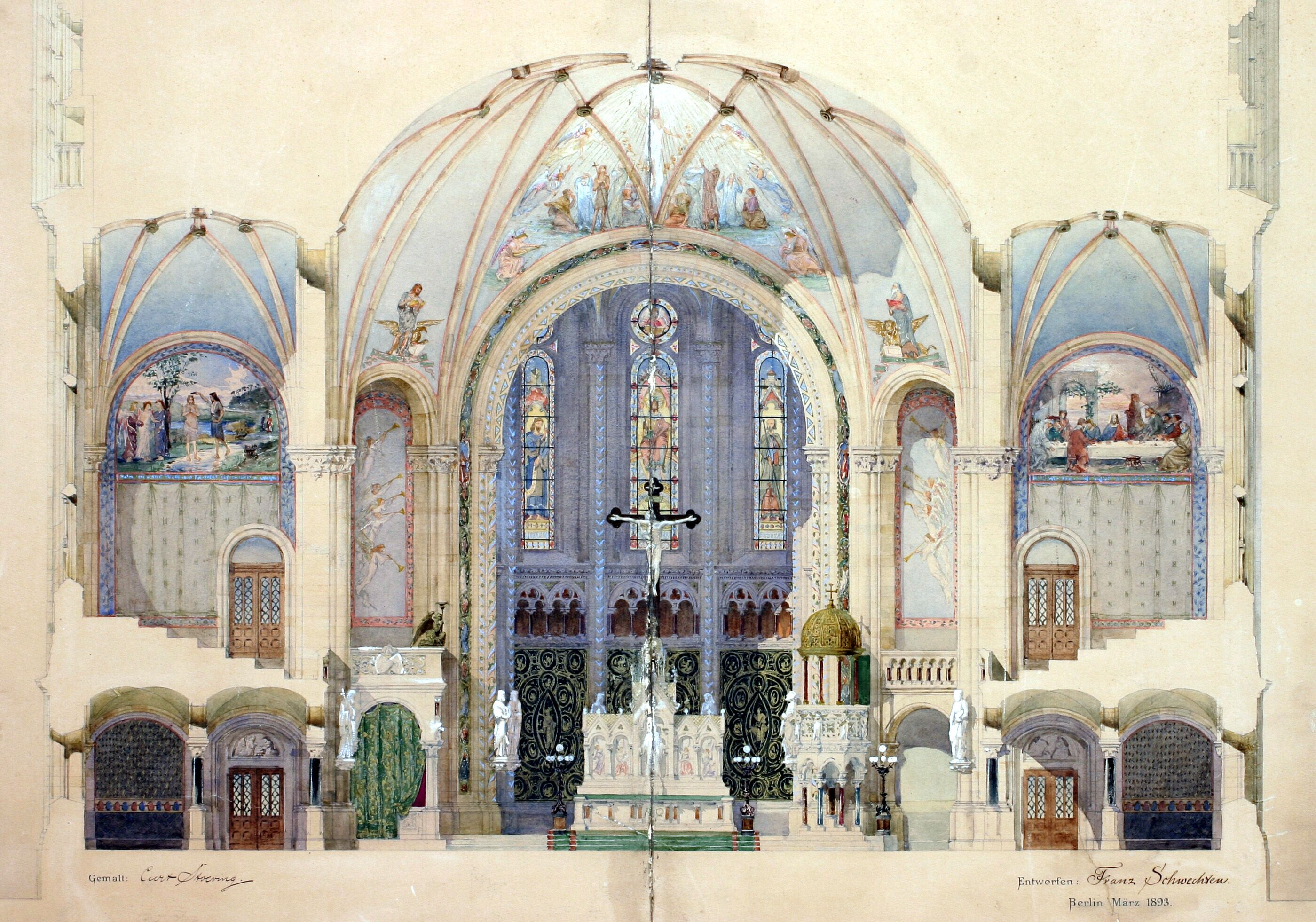 Postkarte Kaiser Wilhelm Gedachtnis Kirche Kaiser Wilhelm Kaiser Kirchen