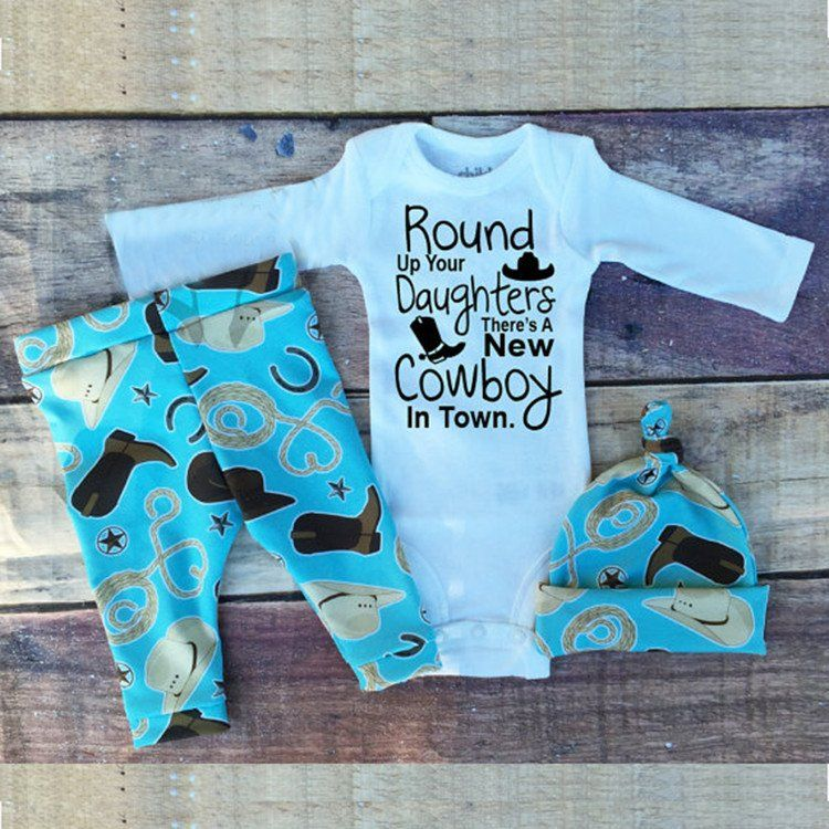 Country Baby Boy Set Baby Boy Outfits Cowboy Baby