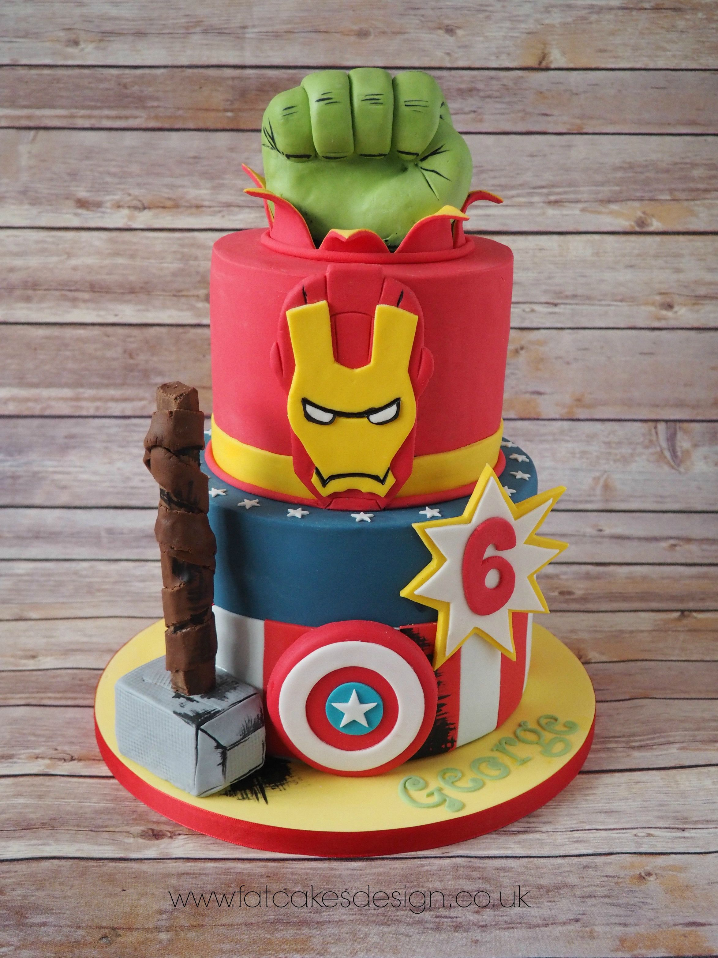 Marvel Heroes Birthday Cake Super Heroes Cakes Cupcakes In 2018