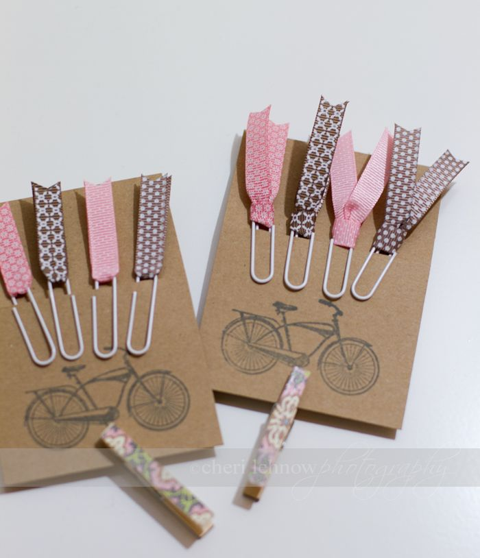 Paperclip Bookmarks With Ribbon Ideas Paperclip Crafts